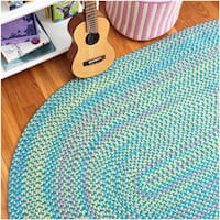 Emily Chenille Multicolor Braided Rug (2' x 3') - 2' x 3'