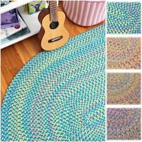 Emily Chenille Multicolor Braided Rug - 2' x 4'