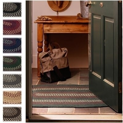 Countryside Braided Reversible Rug USA MADE - 3'6 x 5'6