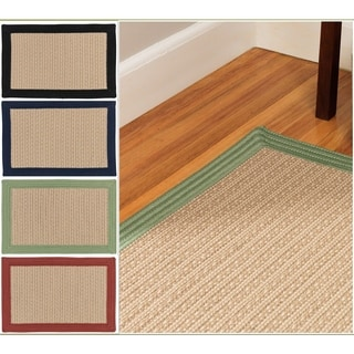 Colonial Mills Multicolored Polypropylene Textured Border Rug (9' x 11')