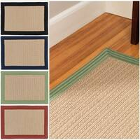 Textured Border Indoor/Outdoor Braided Reversible Rug USA MADE - 7' x 9'
