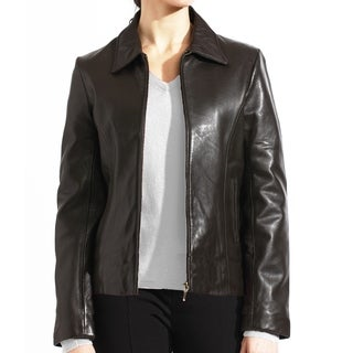 Tanners Avenue Women's Brown Leather Zip-up Jacket