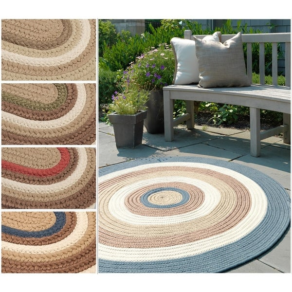 Racetrack II Multicolored Indoor/Outdoor Braided Reversible Rug USA MADE - 8' x 10'