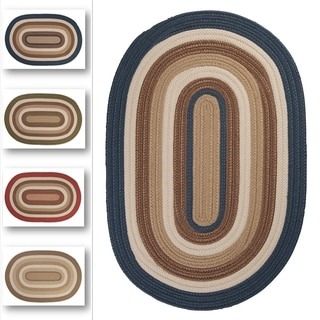 Racetrack II Multicolor Indoor/Outdoor Braided Reversible Rug USA MADE by Colonial Mills (3' x 5' Oval)