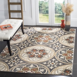 Safavieh Lyndhurst Traditional Light Grey/ Coral Rug (5' 3 x 7' 6)