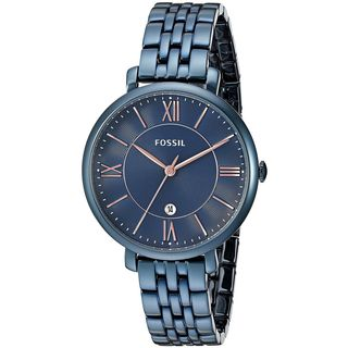 Fossil Women's ES4094 'Jacqueline' Blue Stainless Steel Watch