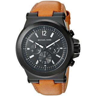 Michael Kors Men's MK8512 'Dylan' Chronograph Brown Leather Watch