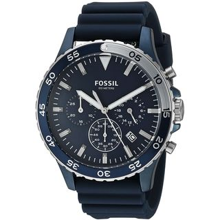 Fossil Men's CH3054 'Crewmaster' Chronograph Blue Silicone Watch