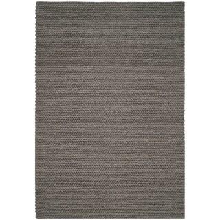 Safavieh Manhattan Contemporary Handmade Grey Wool Rug (6' x 9')