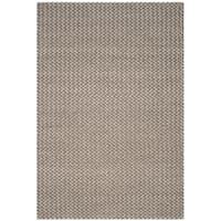 Safavieh Manhattan Contemporary Handmade Camel/ Grey Wool Rug - 6' x 9'