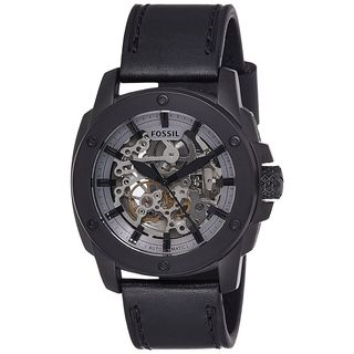 Fossil Men's ME3134 'Modern Machine' Automatic Black Leather Watch