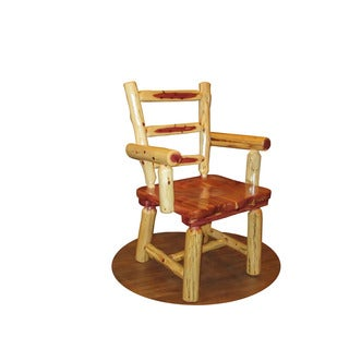 Rustic Red Cedar Log DINING ROOM CAPTAIN'S CHAIRS - SET OF 2