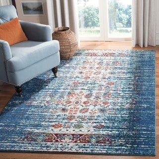 Safavieh Monaco Vintage Distressed Blue/ Ivory Distressed Rug (5' 1 x 7' 7)