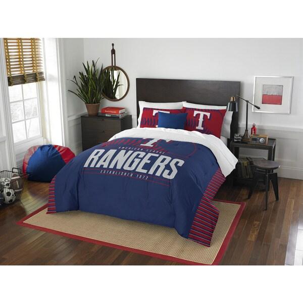 The Northwest Company MLB 849 Rangers Grandslam F/Q Comforter Set