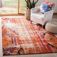 Safavieh Monaco Vintage Bohemian Orange/ Multi Distressed Rug - 5' 1 x 7' 7