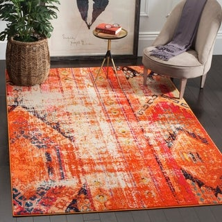 Safavieh Monaco Vintage Bohemian Orange/ Multi Distressed Rug (6' 7 x 9' 2)