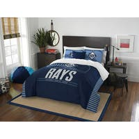 The Northwest Company MLB Tampa Bay Rays Grandslam Blue Full/Queen 3-piece Comforter Set