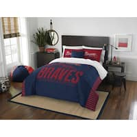 The Northwest Company MLB Atlanta Braves Grandslam Full/Queen 3-piece Comforter Set