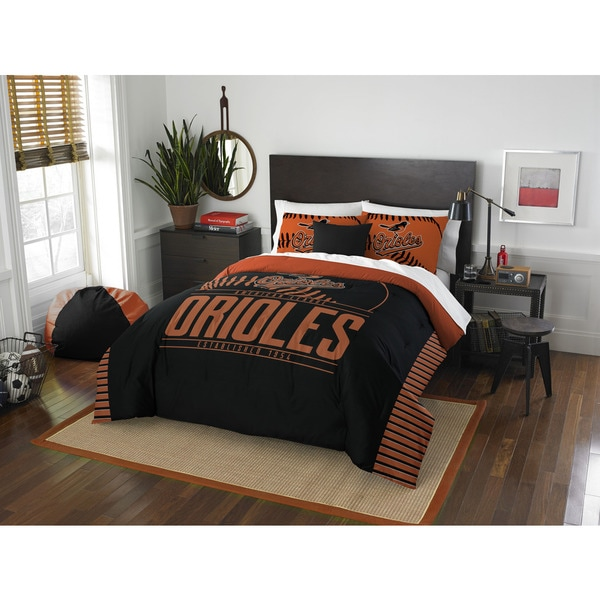The Northwest Company MLB Baltimore Orioles Grandslam Full/Queen 3-piece Comforter Set