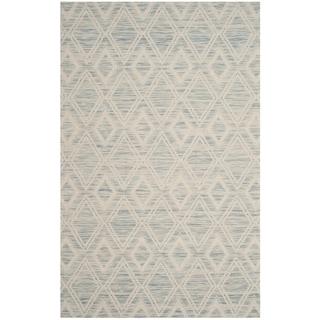 Safavieh Handmade Marbella Asya Modern Wool Rug (6 x 9 - Light Blue/Ivory)