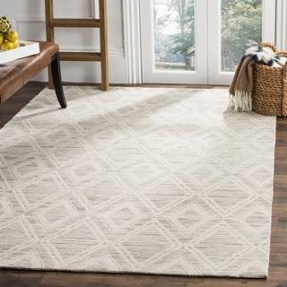 Safavieh Marbella Handmade Vintage Diamond Light Brown/ Ivory Wool Rug (5' x 8')