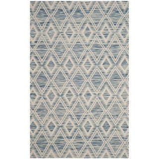 Safavieh Handmade Marbella Asya Modern Wool Rug (5 x 8 - Dark Blue/Ivory)