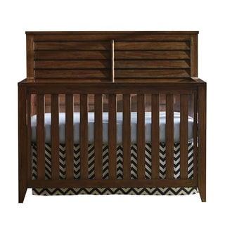 Compass 4 In 1 Mahogany Finish Wood Convertible Crib