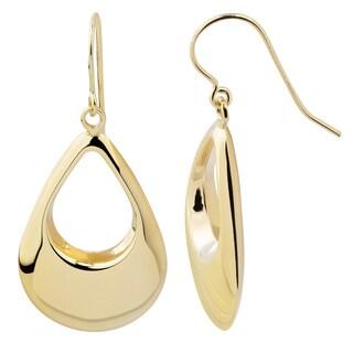 Fremada 14k Yellow Gold High Polish Puffed Teardrop Dangle Earrings