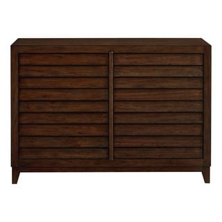 Compass Brown Wood and Metal 6-drawer Double Dresser