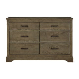 Greyson Grey Finish Oak and Metal Double Dresser