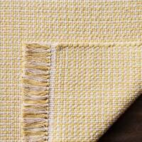 Safavieh Hand-Woven Montauk Flatweave Ivory/ Yellow Cotton Rug - 5' x 8'