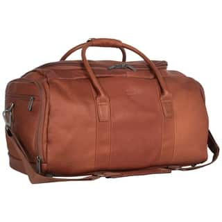 Kenneth Cole Reaction Colombian Leather 20-inch Top Load Multi-Compartment Duffel Bag / Carry On