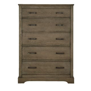 Greyson Grey Wood and Metal 5-drawer Chest