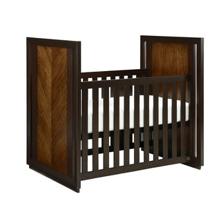 HGTV Home Hayden Cherry-finished Wood and Metal 3-in-1 Convertible Crib
