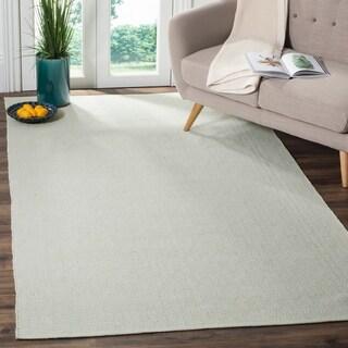 Safavieh Handmade Flatweave Montauk Eliina Casual Cotton Rug (5 x 8 - Ivory/Foam Green)
