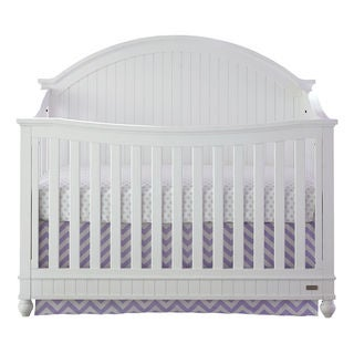Somerset White Wooden 4-In-1 Convertible Crib
