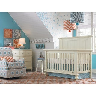 Wakefield Off-white Wood/Metal 4-in-1 Convertible Crib