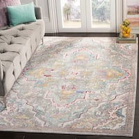 Safavieh Mystique Boho Watercolor Grey/ Light Blue Silky Rug - 5' x 8'