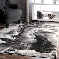 nuLOOM Contemporary Abstract Grey Rug (7'6 x 9'6)