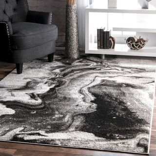 nuLOOM Grey Contemporary Abstract Area Rug