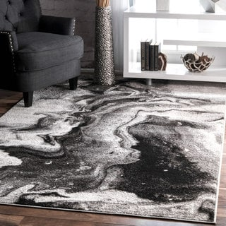 nuLOOM Contemporary Abstract Grey Rug (5' x 8')