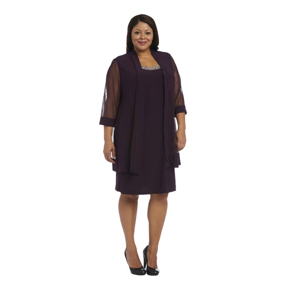 Shop Rm Richards Womens Purple Polyester And Spandex Plus Size