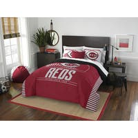 The Northwest Co Reds Grandslam Multicolored Polyester Full/Queen 3-piece Comforter Set