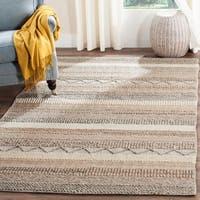 Safavieh Hand-Woven Natura Oakley Beige Wool Rug - 5' x 8'