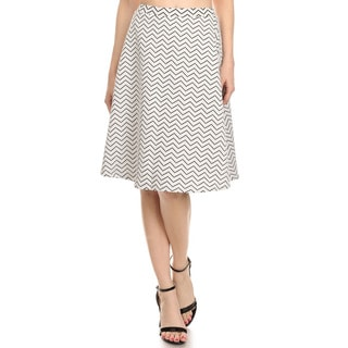 Women's Chevron-print Flare Skirt