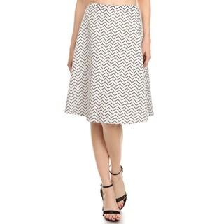Women's Chevron-print Flare Skirt