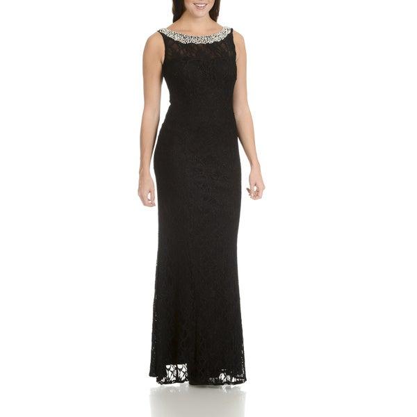 40dfb059af8 ... Women s Clothing     Dresses     Evening   Formal Dresses. Cachet  Women  x27 s Black All-over Lace