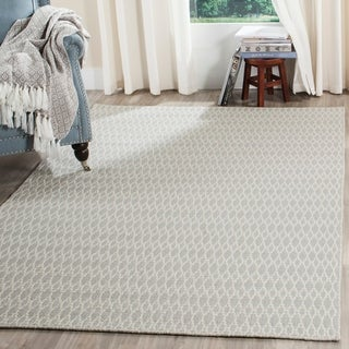 Safavieh Oasis Contemporary Flat Weave Grey/ Ivory Wool Rug (6' x 9')