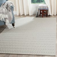 Safavieh Oasis Contemporary Flat Weave Grey/ Ivory Wool Rug - 6' x 9'