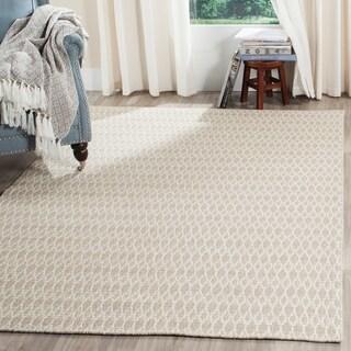 Safavieh Oasis Contemporary Flat Weave Beige/ Ivory Wool Rug (6' x 9')
